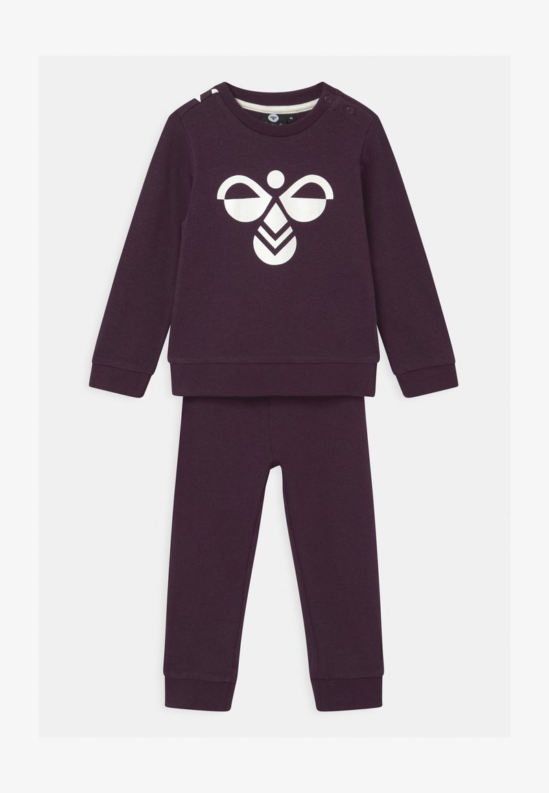 Hummel - ARIN CREWSUIT SET UNISEX - Survêtement - blackberry wine