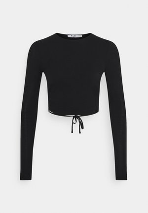 OPEN BACK DETAIL - Long sleeved top - black