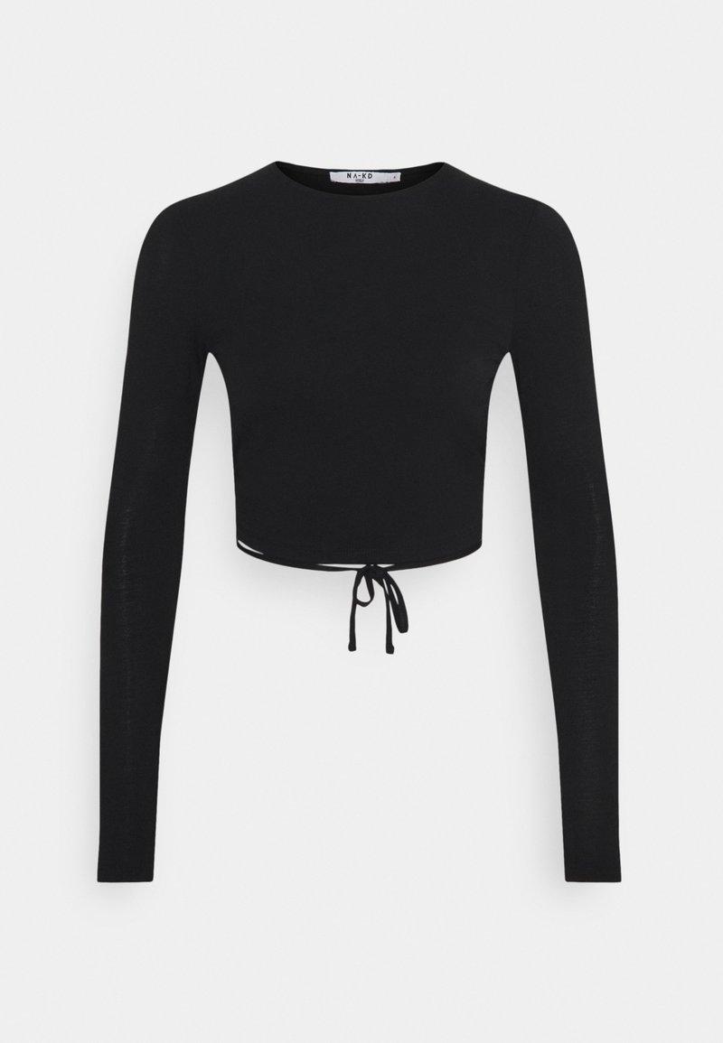 NA-KD - OPEN BACK DETAIL - Långärmad tröja - black