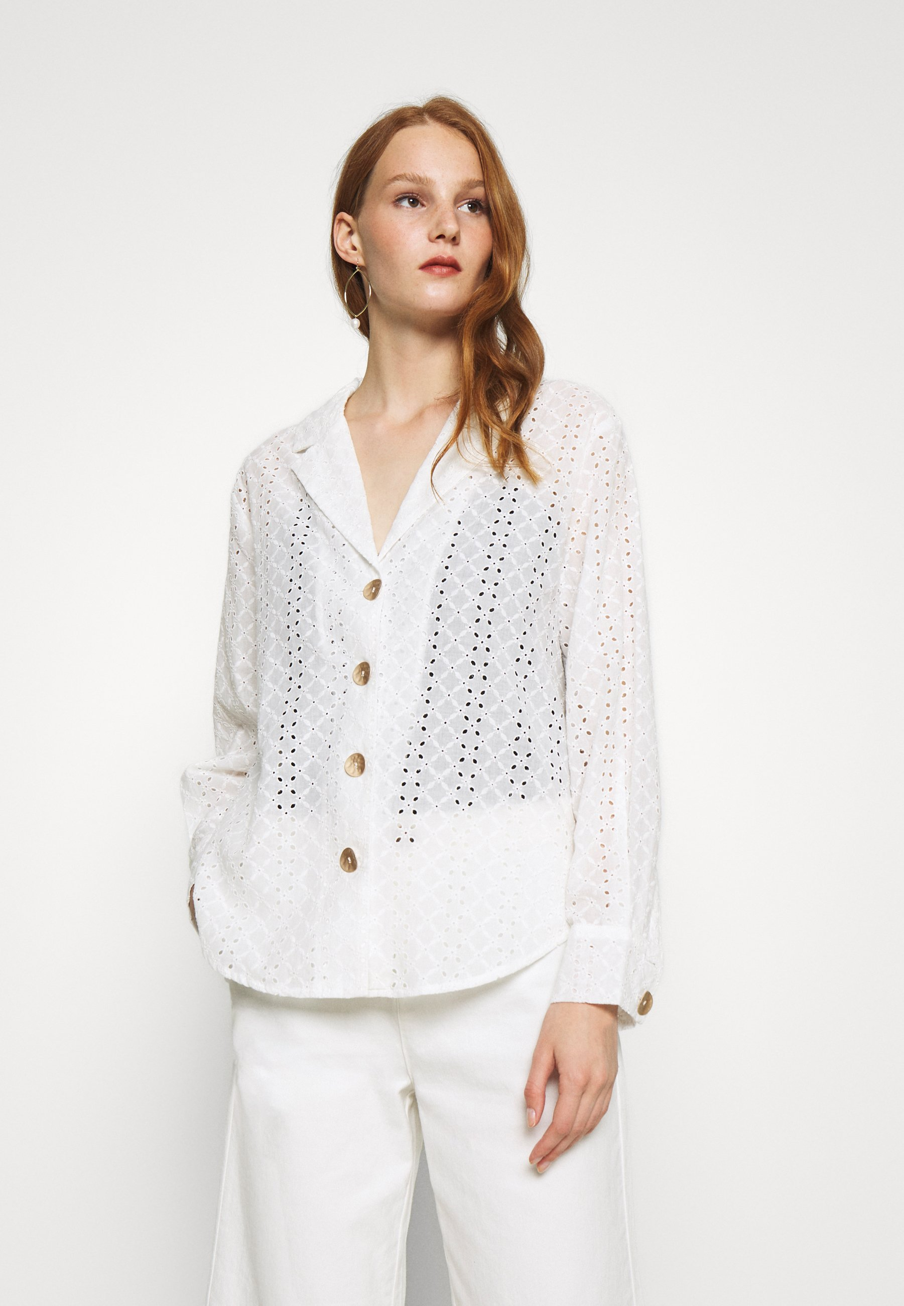 Limit Discount Women's Clothing We are Kindred BRONTE LOOSE Button-down blouse white Ynno2w3SA