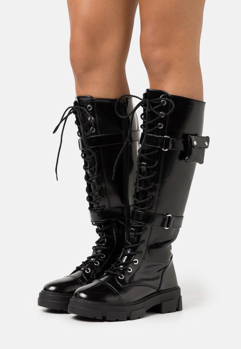 ALDO - SADIYA - Botas con cordones - black