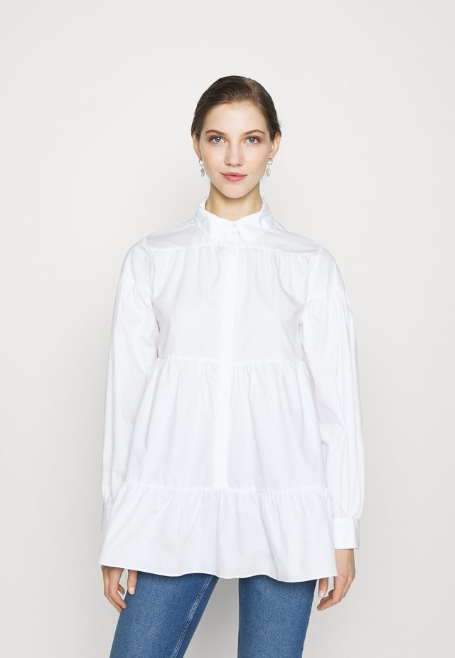 TIERED - Button-down blouse - white