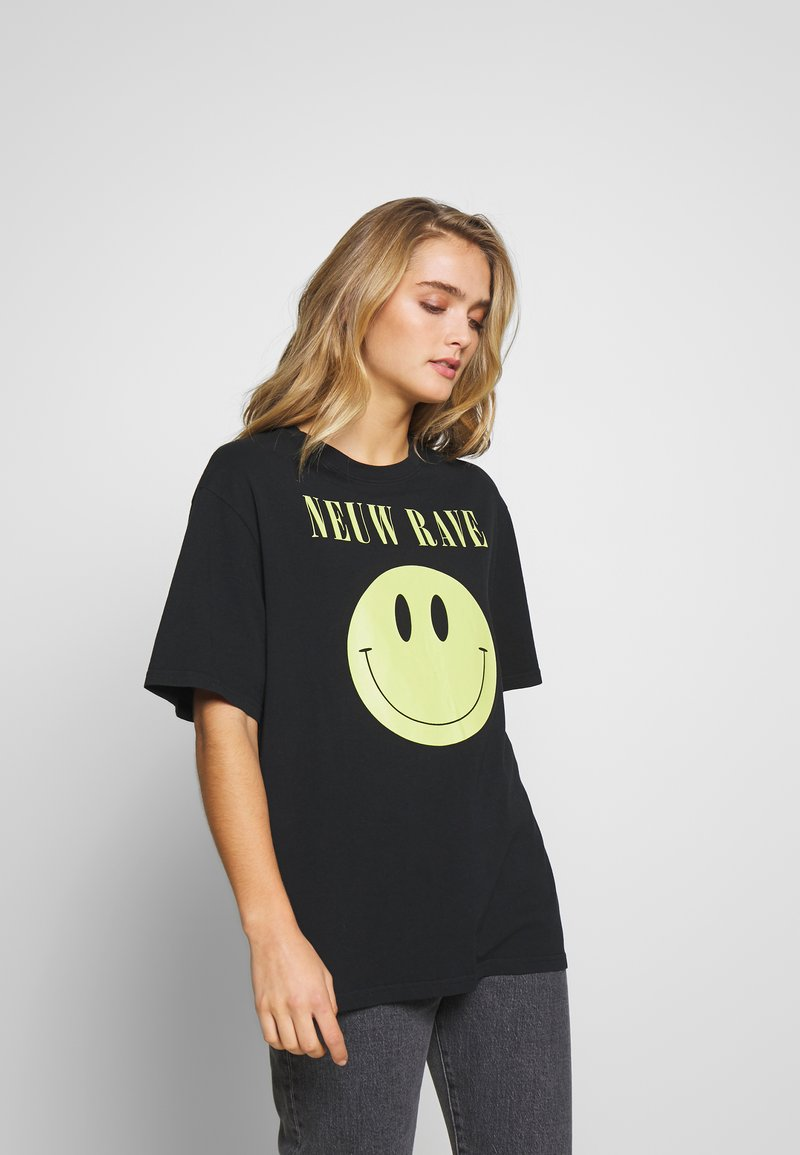 Neuw - NEUW RAVE TEE - Print T-shirt - washed black