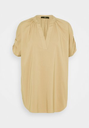 SMOKED SLEEVE BLOUSE - Bluse - desert