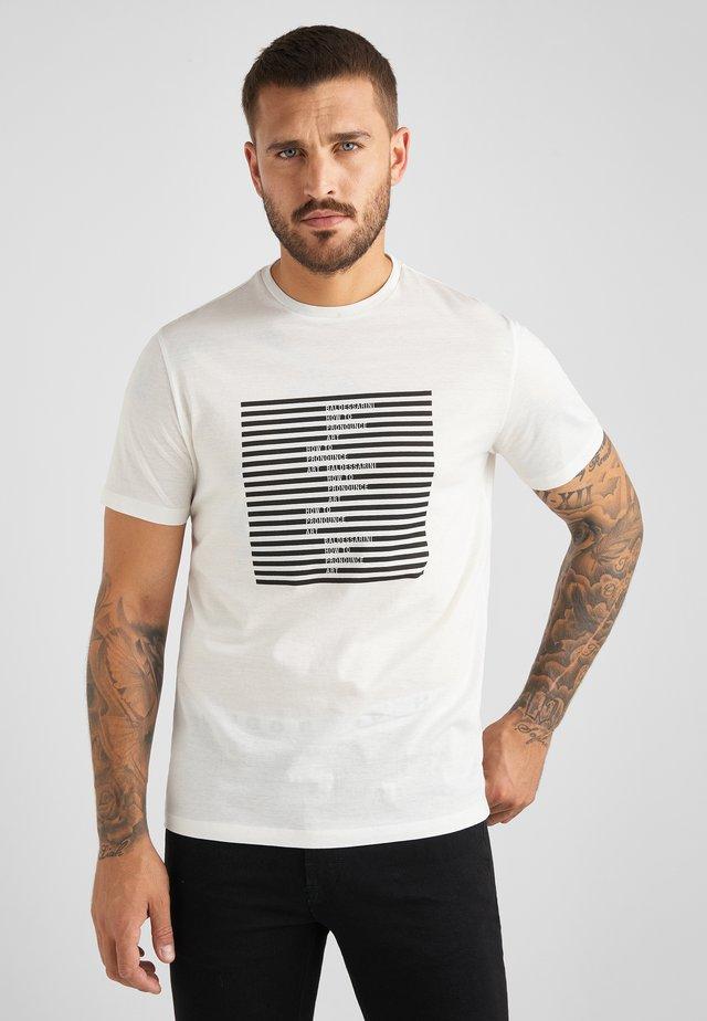TABEO - T-shirt print - ecru weiss