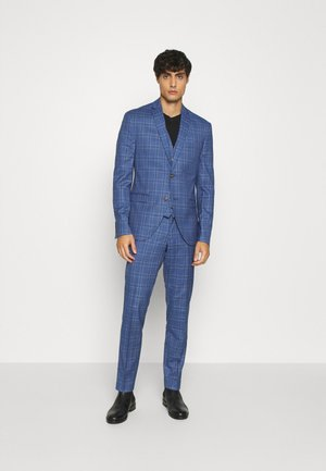 MID BLUE CHECK 3PCS SUIT - Jakkesæt - blue