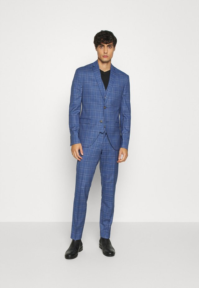 MID BLUE CHECK 3PCS SUIT - Kostuum - blue