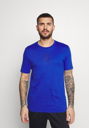 CURRY LOGO TEE - Print T-shirt - royal