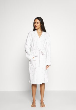 STRIP GOWN - Dressing gown - white