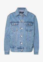 OVERSIZED JACKET - Kurtka jeansowa - blue