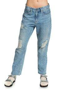 Quiksilver - MIT BAGGY  - Straight leg jeans - blue rip - 0