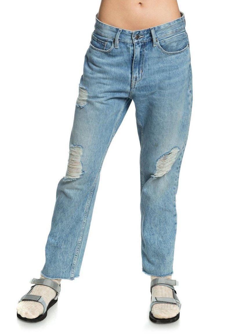 Quiksilver - MIT BAGGY  - Straight leg jeans - blue rip