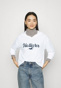 Hollister Co. - COZY HOODIE  - Jumper - white - 0
