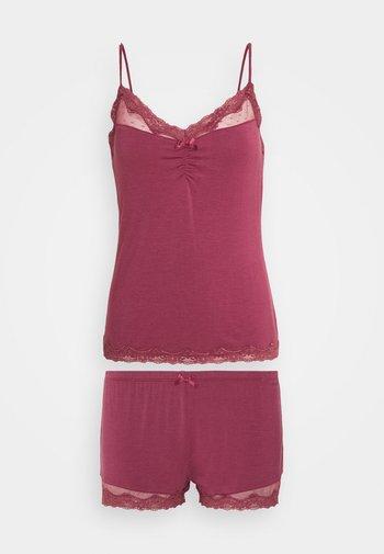SHORT SET  - Pyjama - maroon