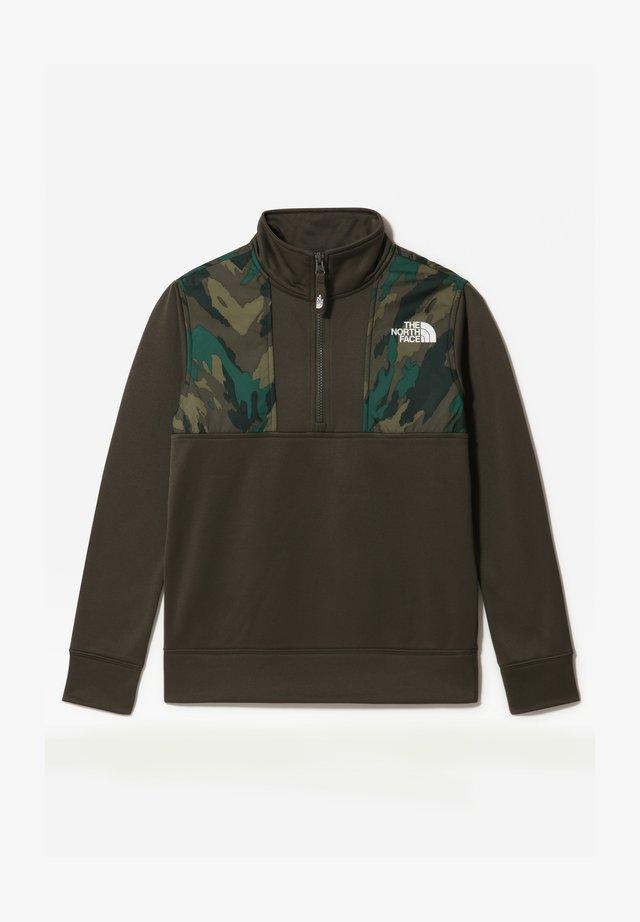 B SURGENT 1/4 ZIP - Sweatshirts - new taupe green