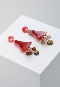 ONLY - ONLYASMIN EARRINGS - Korvakorut - goji berry - 0