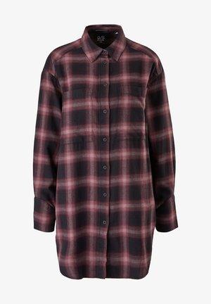 Button-down blouse - purple check
