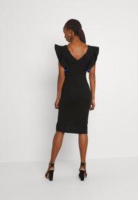 WAL G. - V NECK RUFFLE SLEEVE MIDI DRESS - Cocktail dress / Party dress - black/royal blue - 2