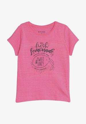 Print T-shirt - neon pink