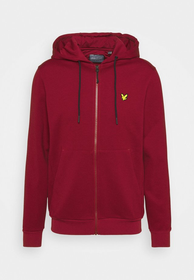 TECH HOODIE - veste en sweat zippée - ruby