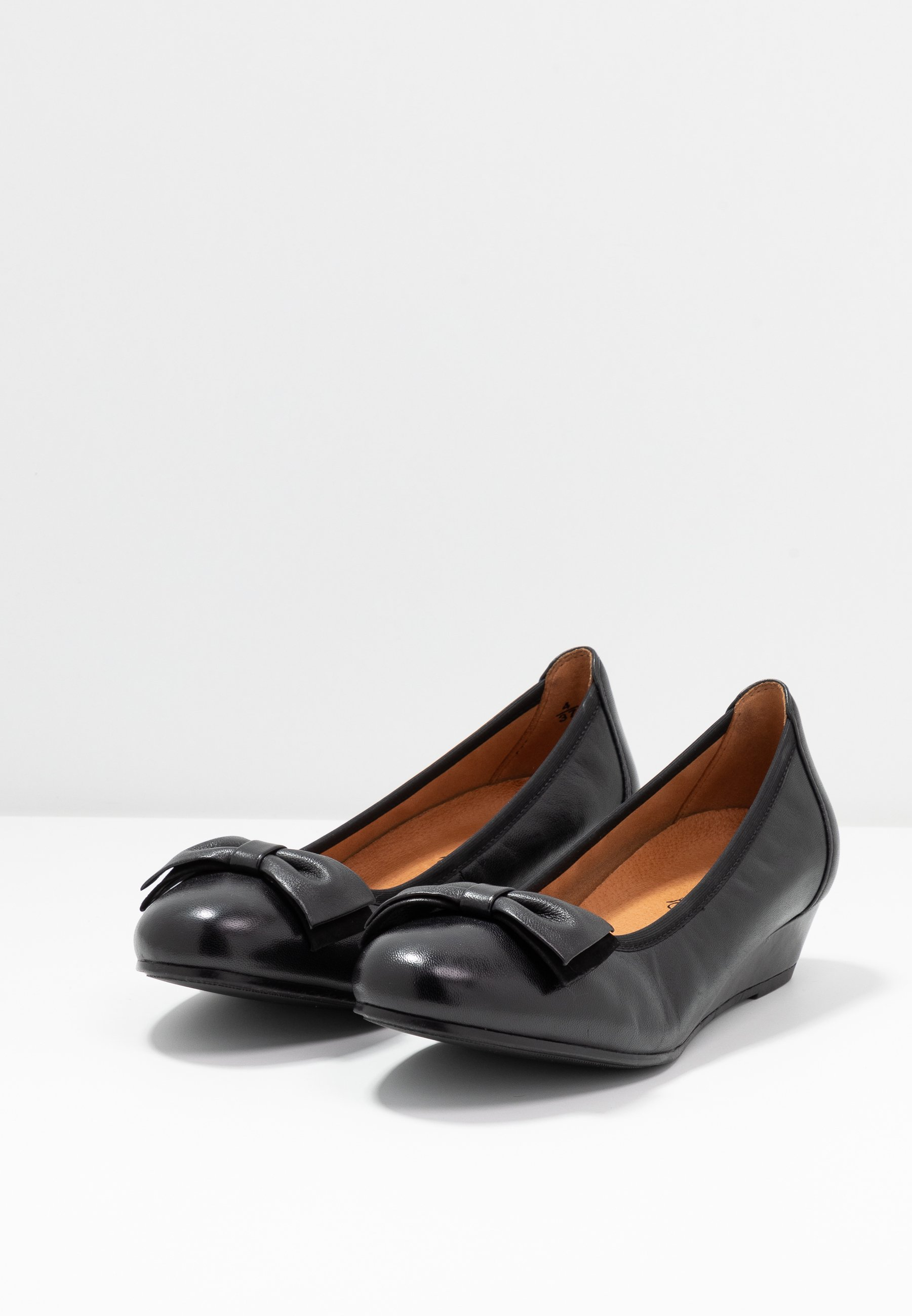 Caprice COURT SHOE Keilpumps black/schwarz