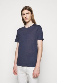 120% Lino - SHORT SLEEVE  - Basic T-shirt - blue navy - 0