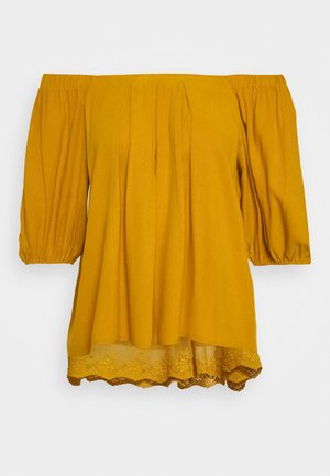 HAZELCR BLOUSE - Pusero - mustard yellow