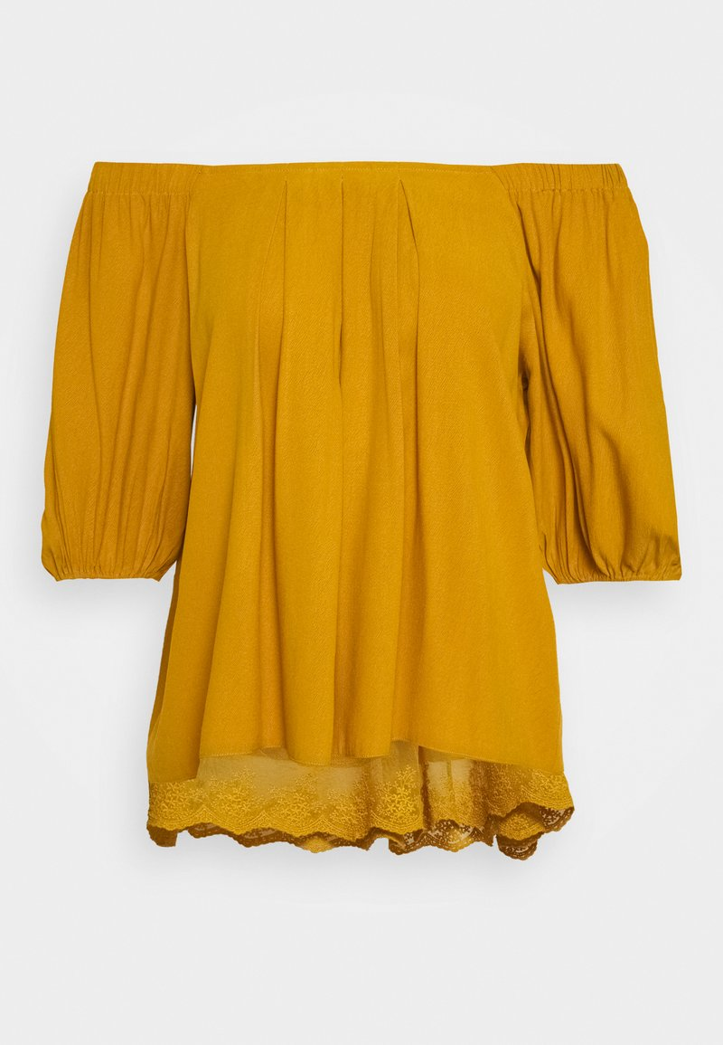 Cream - HAZELCR BLOUSE - Blouse - mustard yellow
