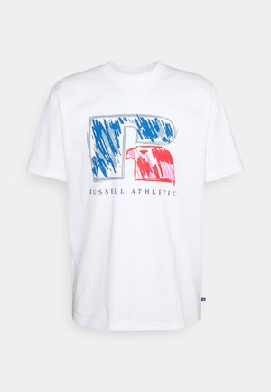 HANSEN - Print T-shirt - white