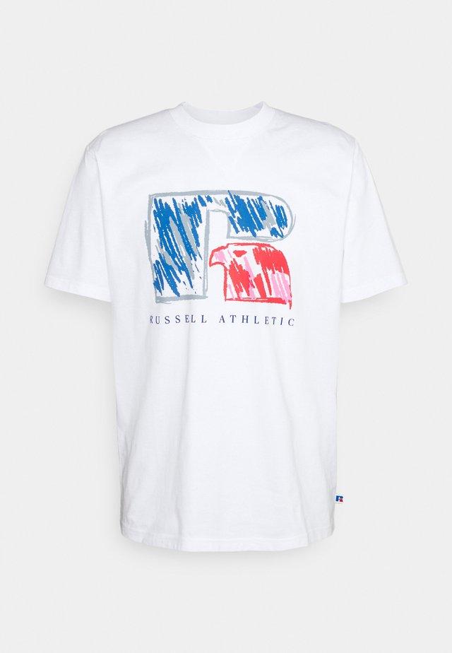 HANSEN - T-shirt print - white