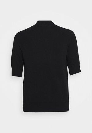 MOCKNECK SHORTSLEEVE - Basic T-shirt - black