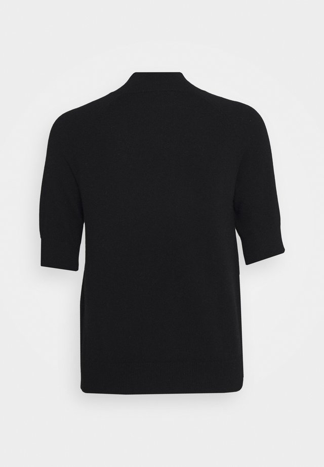MOCKNECK SHORTSLEEVE - T-shirt basic - black