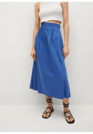 AGNES - Pleated skirt - bleu