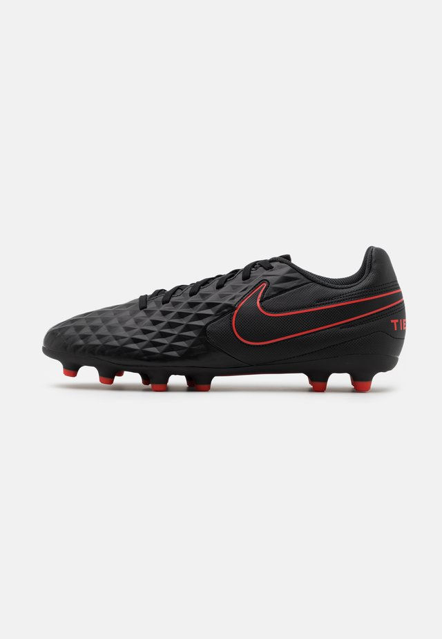 TIEMPO LEGEND 8 CLUB FG/MG - Scarpe da calcetto con tacchetti - black/dark smoke grey/chile red