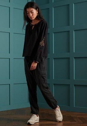 ANISA - Long sleeved top - black