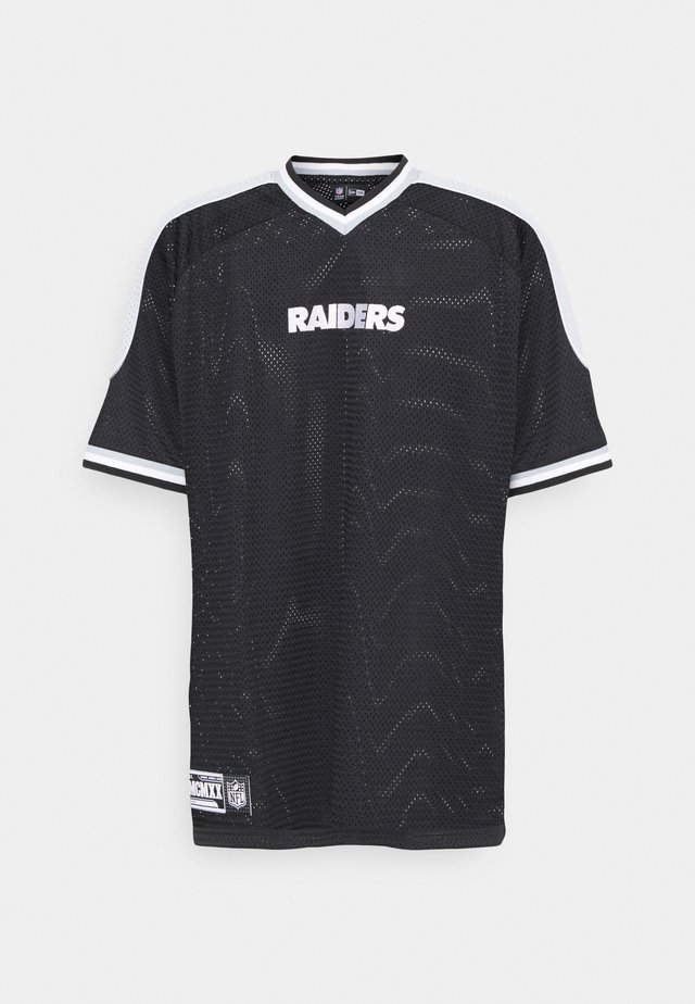 LAS VEGAS RAIDERS NFL CONTRAST PANEL - T-shirt con stampa - black