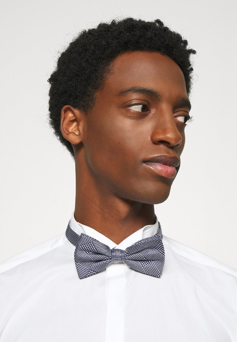 Tommy Hilfiger - CHECK BOWTIE - Bow tie - blue