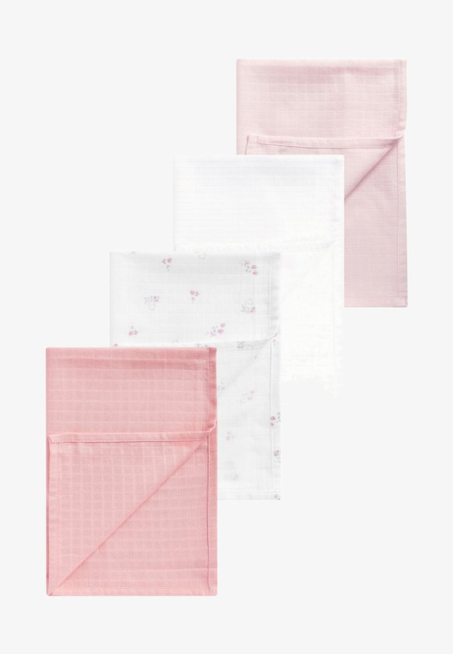 MUSLIN SQUARES 4 PACK - Mullwindel - pink