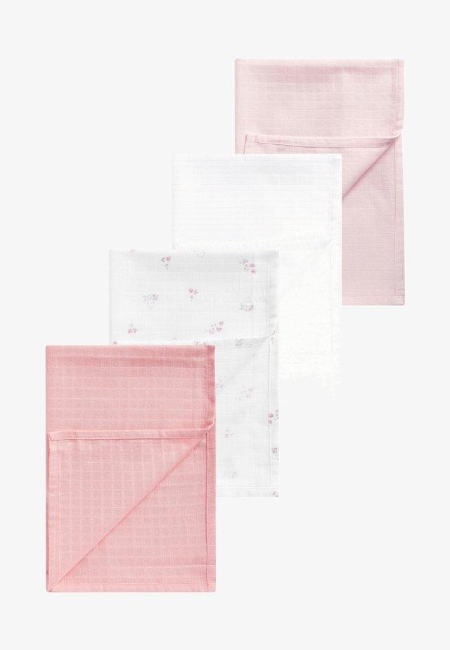 MUSLIN SQUARES 4 PACK - Muslintæppe - pink