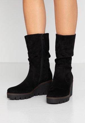 Wedge boots - schwarz