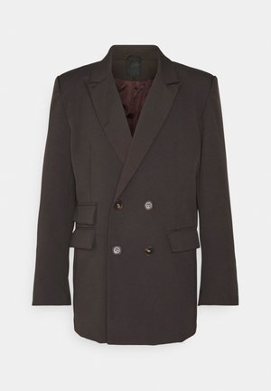 HENNESSEY RELAXED DOUBLE BREASTED SUIT JACKET - Kavaj - dark brown