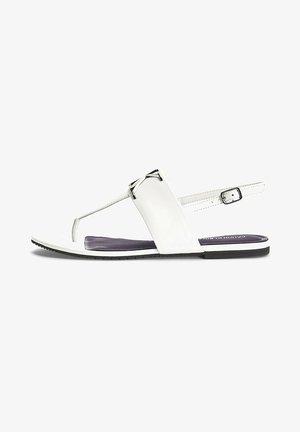 FLAT  - T-bar sandals - bright white