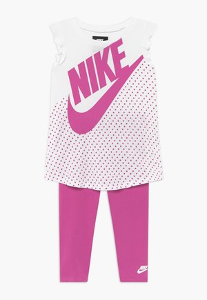 TUNIC BABY SET - Leggings - Trousers - active fuchsia