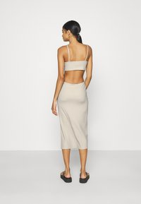 Nly by Nelly - CUT OUT MIDI DRESS - Day dress - creme - 2