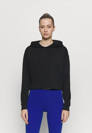 ONPLOUNGE SHORT HOOD - Long sleeved top - black