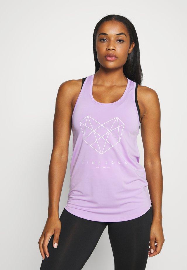 SHADOW TANK - Koszulka sportowa - lilac