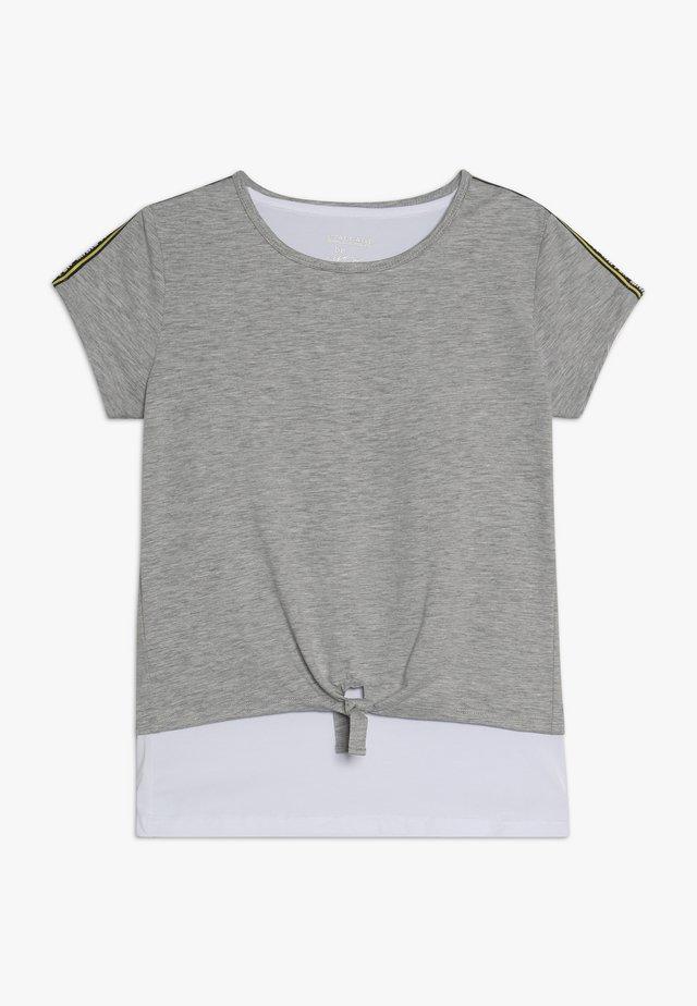 2IN1 TEENAGER - Camiseta estampada - mid grey melange