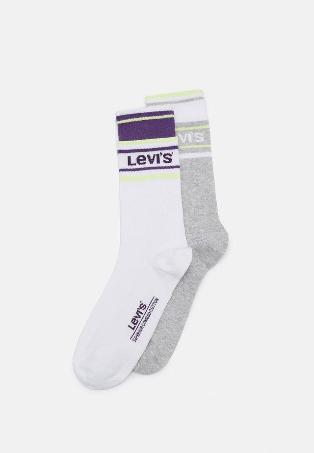 DOUBLE WELT REGULAR CUT 2 PACK - Socks - purple/green