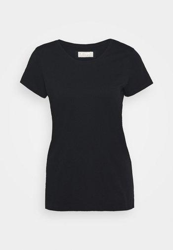 ARDEN O NECK TEE - T-shirt basic - black