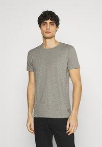 Superdry - LAUNDRY TEE TRIPLE 3 PACK - T-shirt basic - black/optic/laundry grey marl - 1